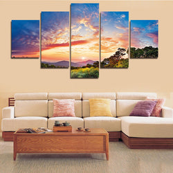 A Love of Skyline | 5 Panel Canvas Wall Art Prints by Panel Wall Art