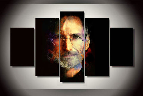 Steve Jobs | 5 Panel Canvas Wall Art Prints by Panel Wall Art