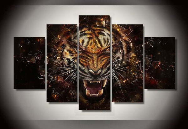 wild tiger canvas wall art
