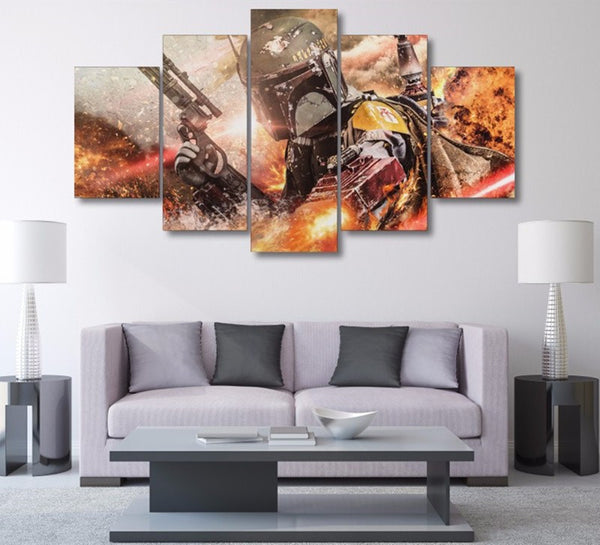 Star Wars Boba Fett | Black Friday Cyber Monday Sale | Panel Wall Art Canvas