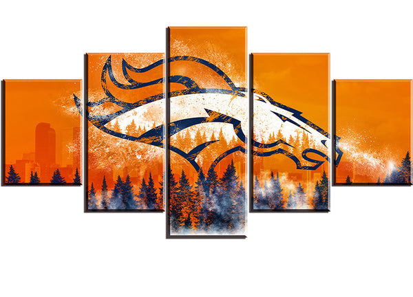 Denver Broncos Football Canvas
