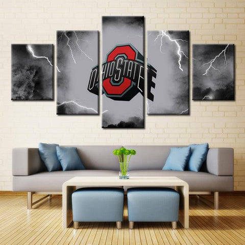 Framed Ohio American Football Canvas Art
