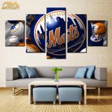 USA Mets Canvas | 5 Panel Canvas Wall Art Prints by Panel Wall Art