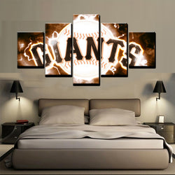 5 Panel  Baseball  San Francisco Giants canvas wall art by panelwallart.com