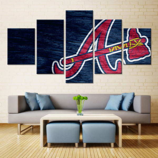 5 Panel Baseball, Big Canvas Wall Art by panelwallart.com