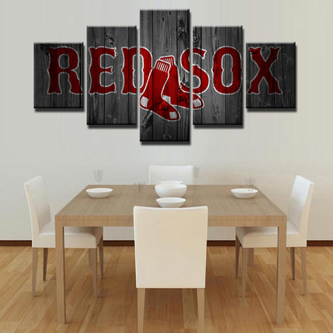 5 Panel  Red Sox canvas wall art by panelwallart.com