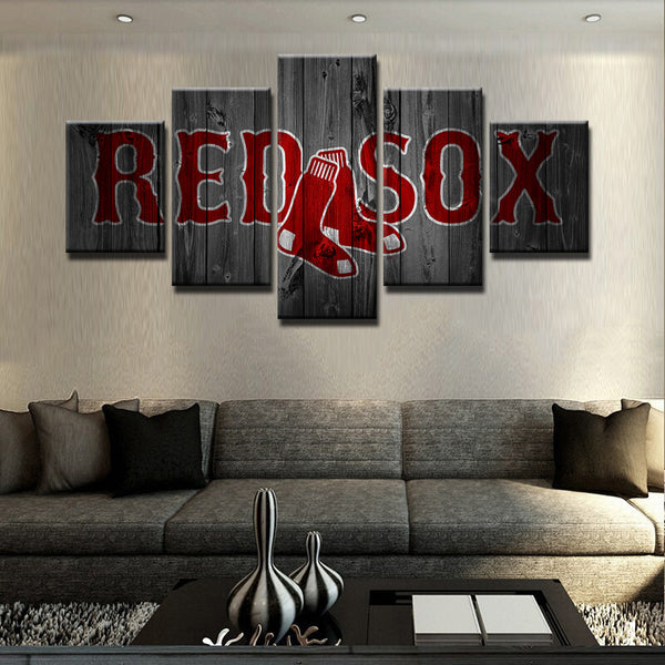 5 panel boston red sox canvas wall art by panelwallart.com