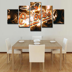 5 Panel  Baltimore Orioles Team canvas wall art by panelwallart.com