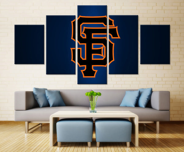 5 piece san francisco giants canvas wall art print by panelwallart.com