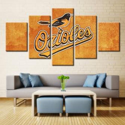 5 Panel  Baltimore Orioles Sports Team canvas wall art by panelwallart.com