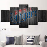 5 Panel  Ice Hockey Sports Canvas Prints by www.PanelWallArt.com
