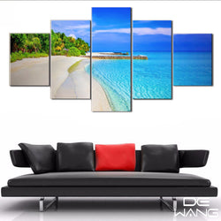 5 Panel Beach, Big, Sky Canvas Wall Art by panelwallart.com