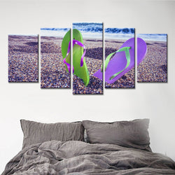 5 Panel Beach, Big Canvas Wall Art by panelwallart.com