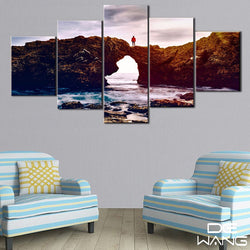 5 Panel Seascape, Big Canvas Wall Art by panelwallart.com