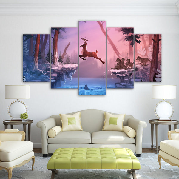 5 Panel  Canvas Wall Art by panelwallart.com