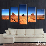blue-sky-and-desert-landscape 5 Pieces Canvas Wall Art by panelwallart.com Amazon Free Shipping