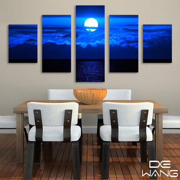 5 Panel Landscape, Big, Sky Canvas Wall Art by panelwallart.com