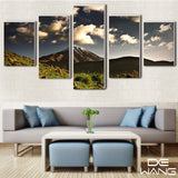 5 Panel Landscape, Big, Mountains Canvas Wall Art by panelwallart.com