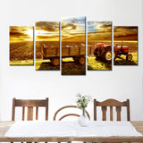 farm-land-at-sunset 5 Pieces Canvas Wall Art by panelwallart.com Amazon Free Shipping