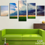 5 Panel Seascape, Big, Sky Canvas Wall Art by panelwallart.com