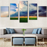 blue-sky-and-green-sea 5 Pieces Canvas Wall Art by panelwallart.com Amazon Free Shipping
