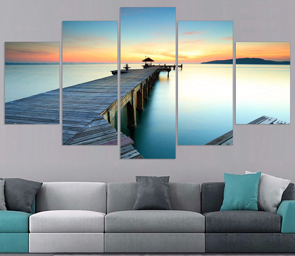 5 panel seascape canvas wall art by panelwallart.com