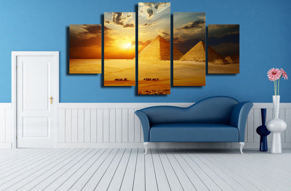 5 panel pyramid canvas wall art print by panelwallart.com