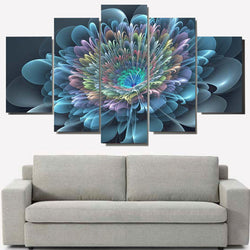 5 Panel Flowers, Big Canvas Wall Art by panelwallart.com