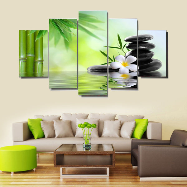 5 panel flowers natures canvas panel wall art by panelwallart.com