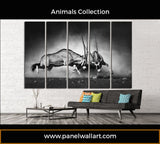 5 panel gemsbok canvas wall art | Panelwallart.com