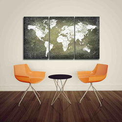 Dark Grunge White World Map