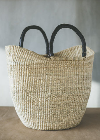 straw leather shopper bag charlie and lee
