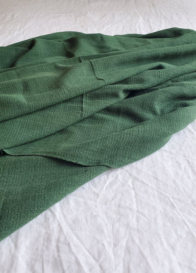 Evergreen Handwoven Cotton Throw (no fringe)