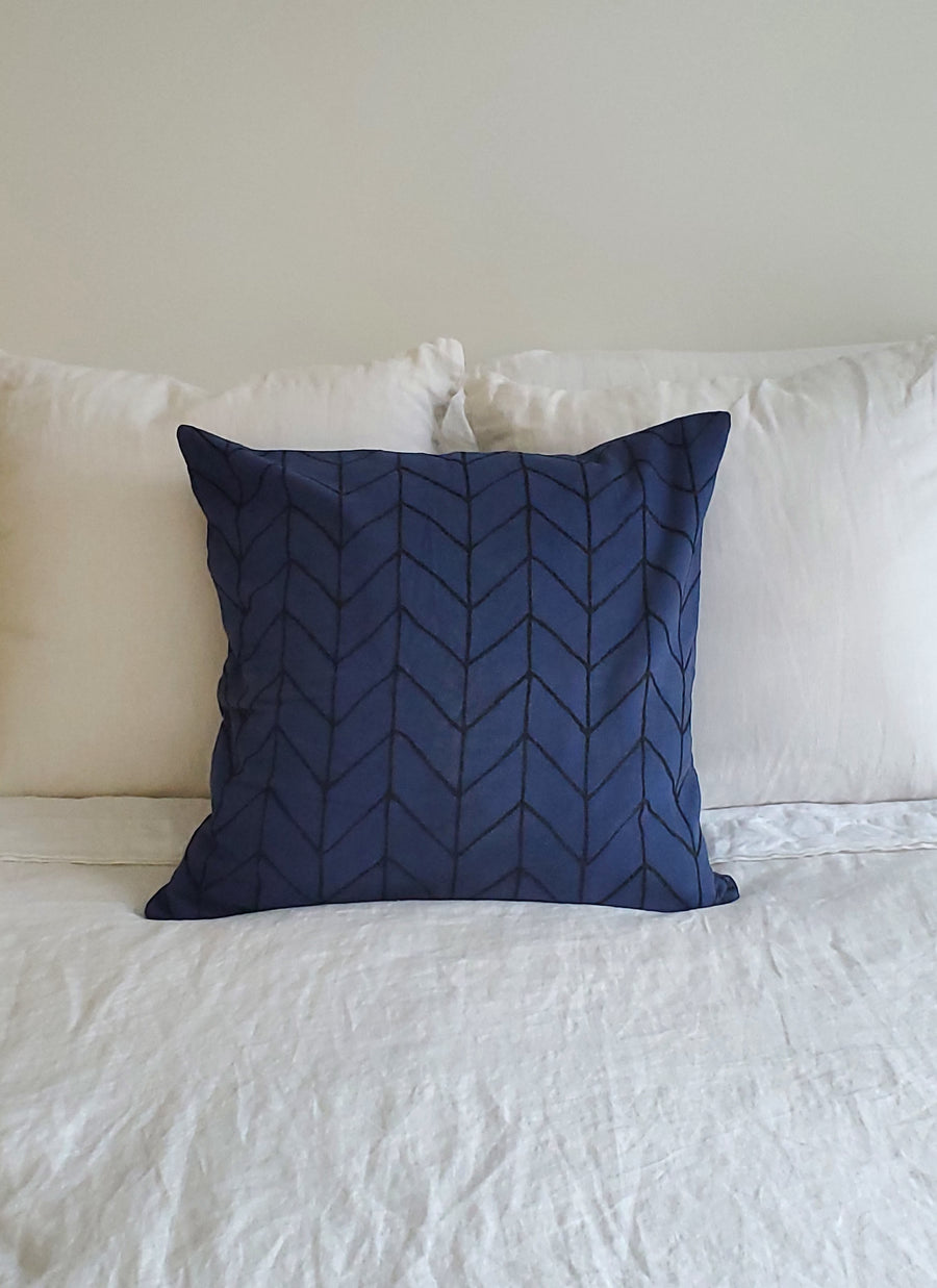 Chevron Navy Cushion