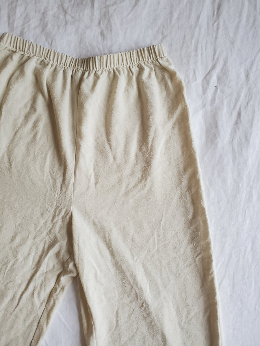 Cream Silk Noil Trousers