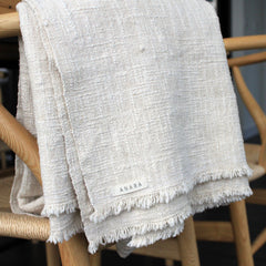 luxurious handwoven cotton throw