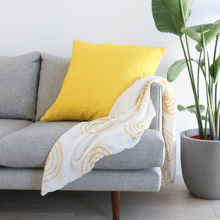 Lemon Linen Pillow