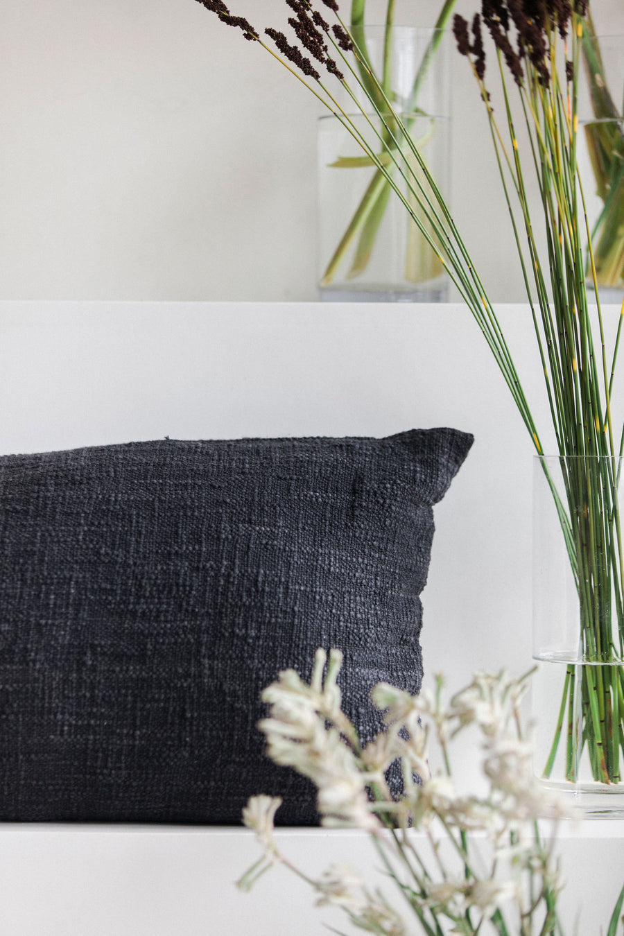 Charcoal Lumbar Pillow