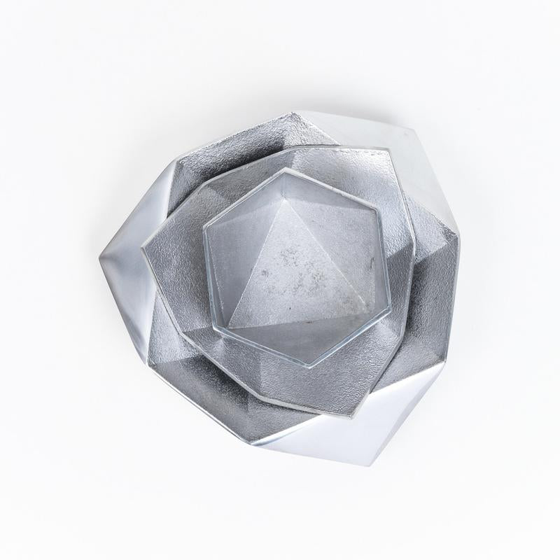 Large Origami Bowl | Recycled Aluminum