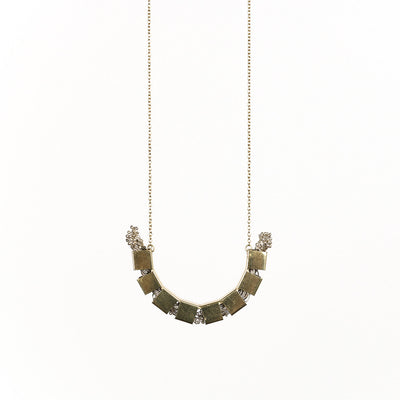 Flora Arc Necklace | Silver