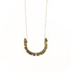 Flora Arc Necklace | Brass