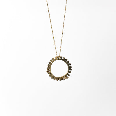 Flora Loop Necklace | Brass