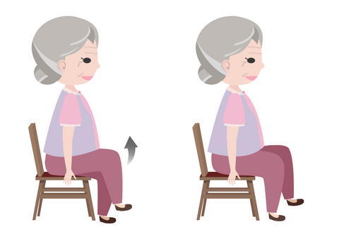 chair exercise for seniors - knee lifts