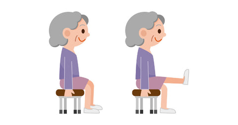 chair exercise for seniors - leg extensions