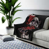 Skull Rose throw