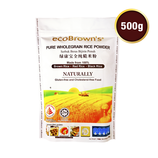 ecoBrown's Wholegrain Rice Powder 500g