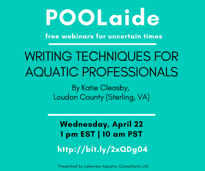 POOLaide Webinar: Writing Techniques for Aquatic Professionals