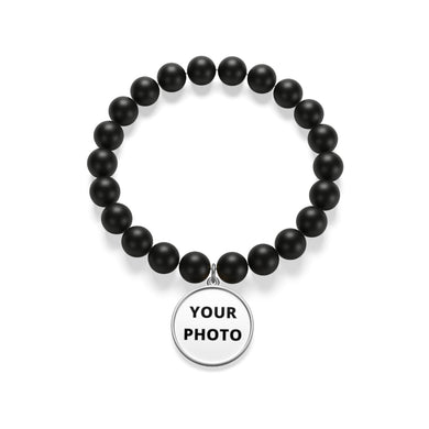 Personalizable Matte Onyx Bracelet | Best gift idea for couples | Gift idea for your beloved ones