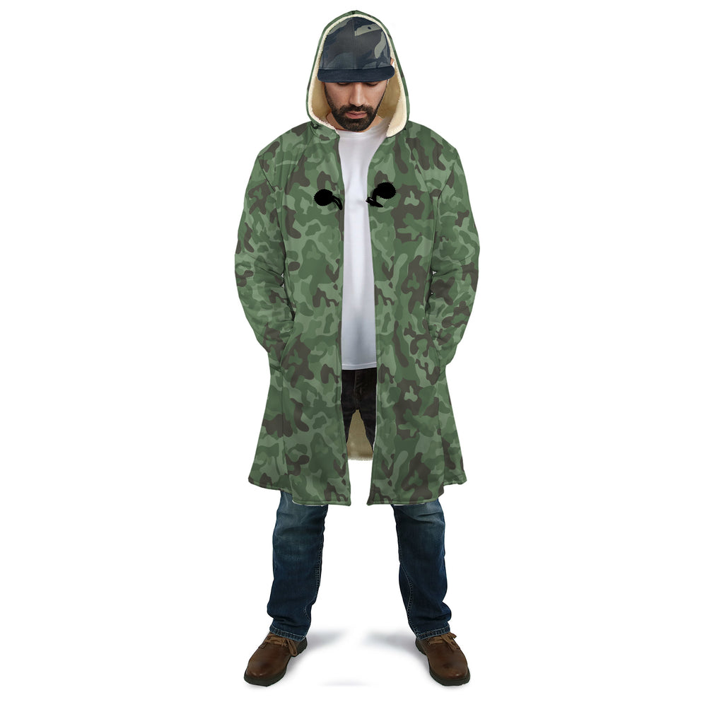 Military Pattern Hooded Cloak