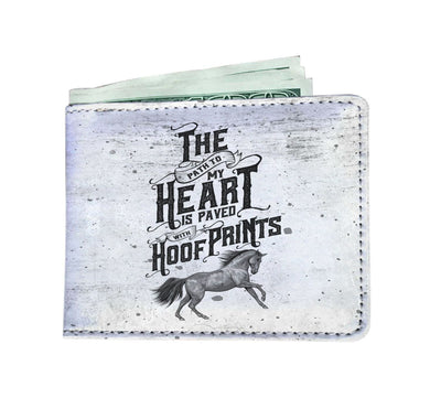 The Path To My Heart Is Paved with Hoof Prints Wallet